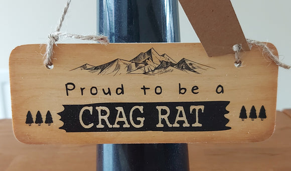 Rustic Wooden Sign Crag Rats