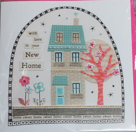 New Home Card Embellished