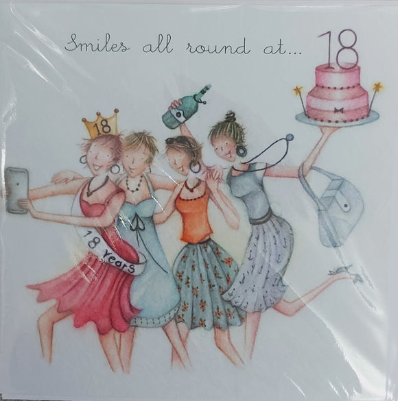 18th Birthday Card by Berni Parker