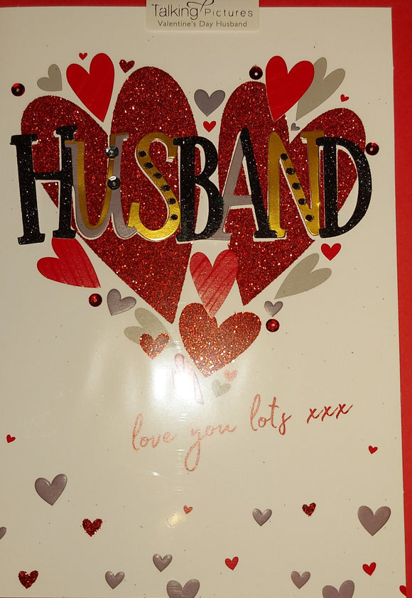 Husband Valentines Day Card Talking Tables