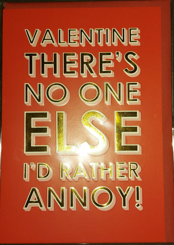 Valentines Day Card Annoy