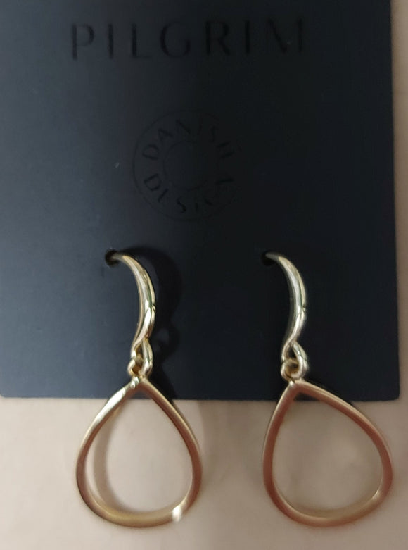 Pilgrim Roxy Gold Plated Hoop Earring