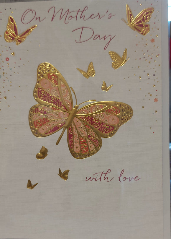 Mothers Day Card Butterfly with Love