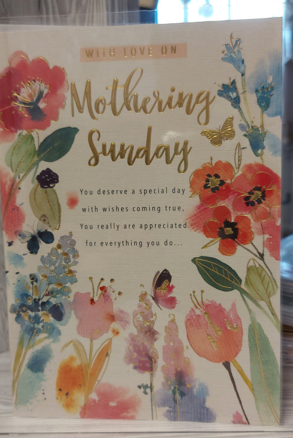 Mothers Day Card Mothering Sunday
