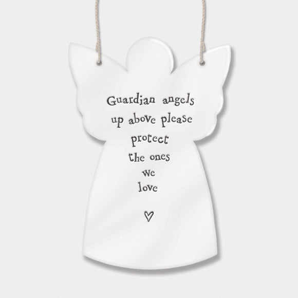 East of India  Porcelain Sign Guardian angels