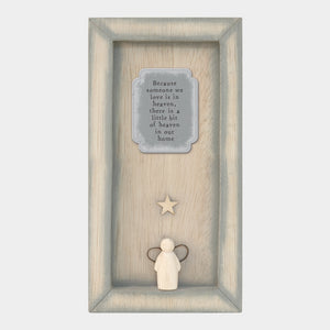 East of India  Long box frame-Because someone we love Sign - Angel