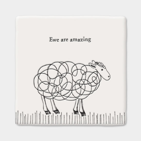 East of India Sq coaster-Sheep/Ewe are amazing