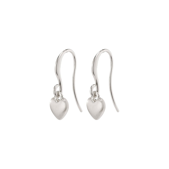 Pilgrim Sophia Silver Plated Heart Drop Earring