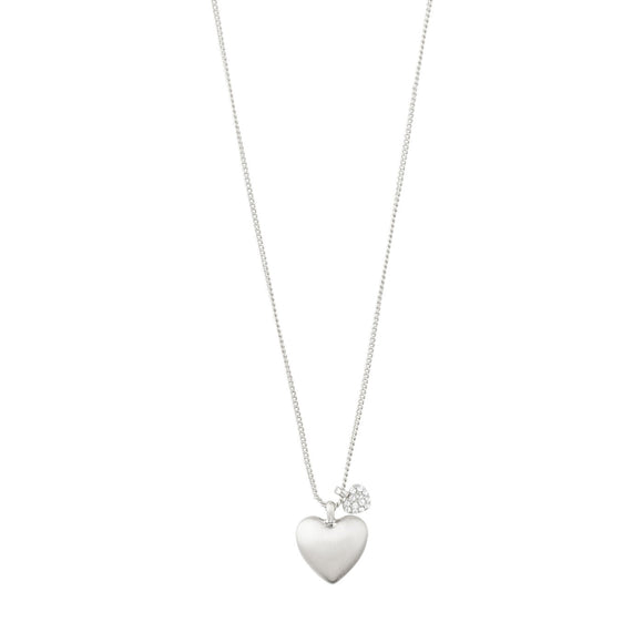 Pilgrim Sophia Silver Plated Heart Crystal Necklace