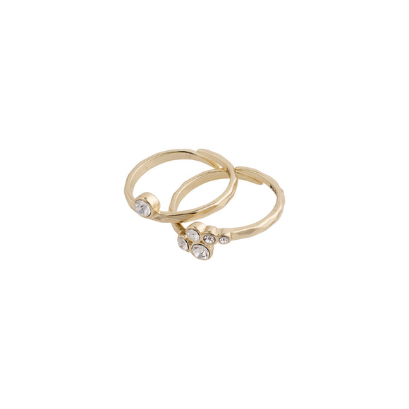 Pilgrim Fran Gold Crystal Stacking Ring