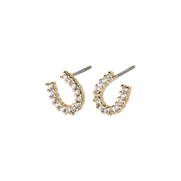 Pilgrim Leanna Gold Plated Horse Shoe Crystal Earring