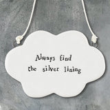 East of India Porcelain hanger sign -Cloud
