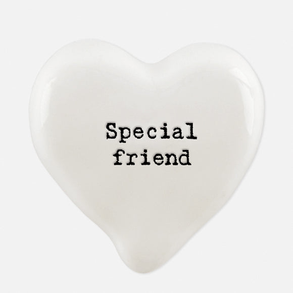 East of India 6707 White heart token-Special friend