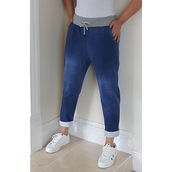 Denim Look Joggers