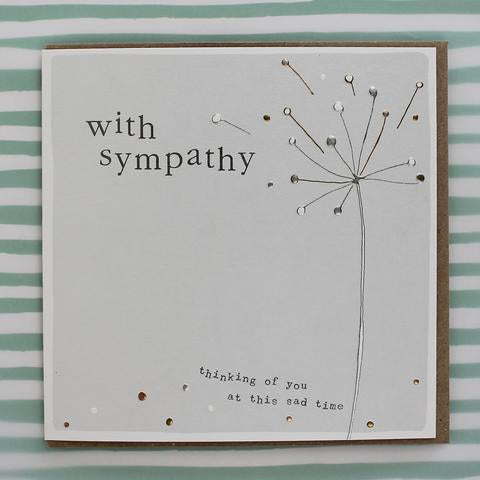 With Sympathy Card Large by Molly Mae