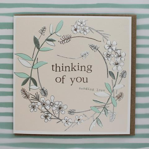 Thinking of you - sending love. Card by Molly Mae