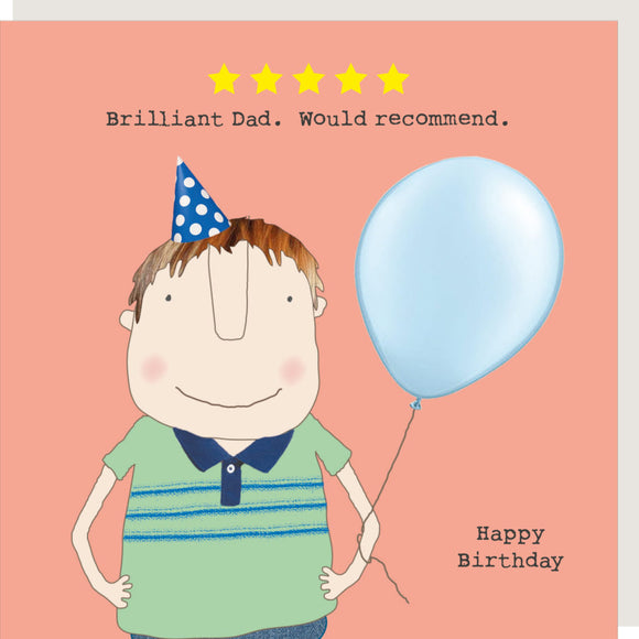 Five Star Dad  Greeting Card by Rosie Made a Thing