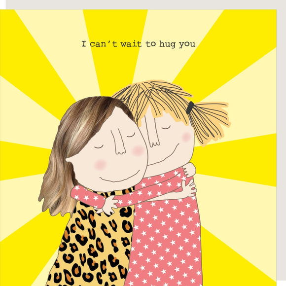 Hug Greeting Card by Rosie Made a Thing