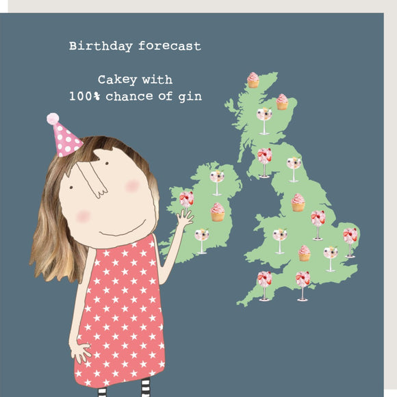Birthday Forecast Card by Rosie Made a Thing