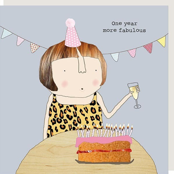 One More Year of Fabulous Card by Rosie Made a Thing