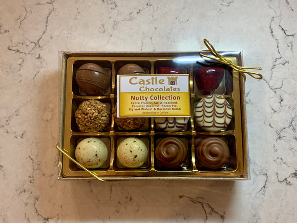Nutty Selection of 12 Chocolates