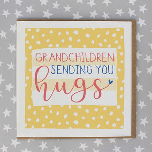 Grandchildren Sending Hugs Card by Molly Mae