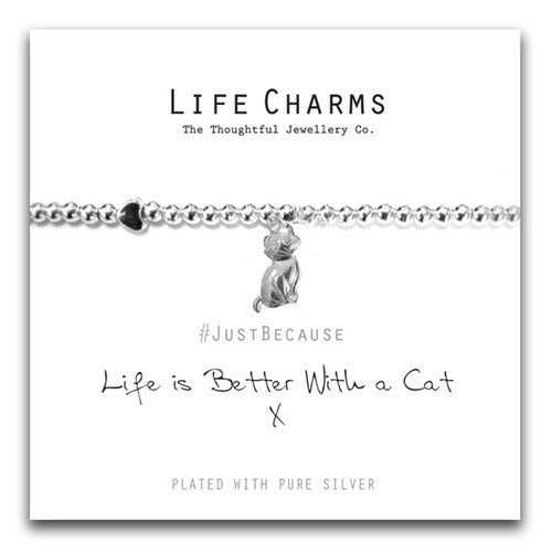 Life Charms - Life is Better With A Cat Bracelet