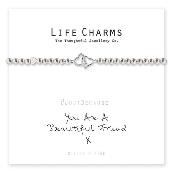 Life Charms Bracelet -You Are A Beautiful Friend Bracelet