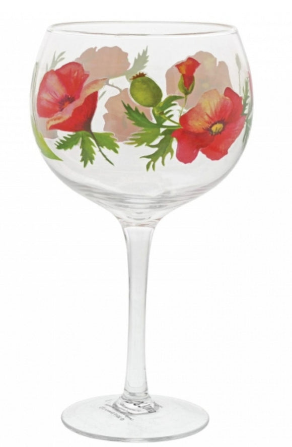 Ginology Poppy Gin Glass