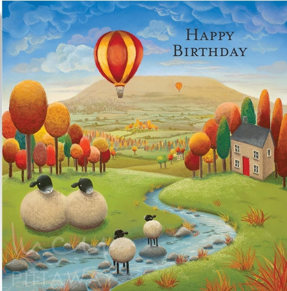 Lucy Pittaway Stepping Stones Birthday Card