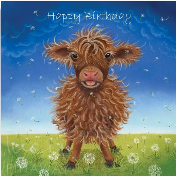 Lucy Pittaway Mini Moo Birthday Card