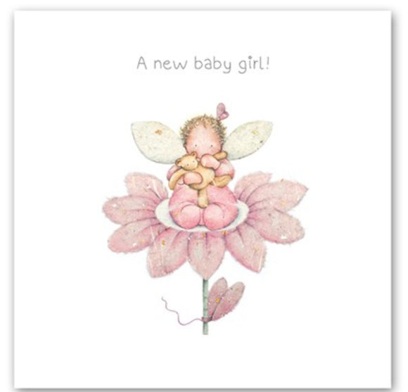 A New Baby Girl Card Berni Parker