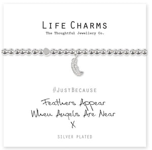 Life Charms Bracelet - Feathers Appear