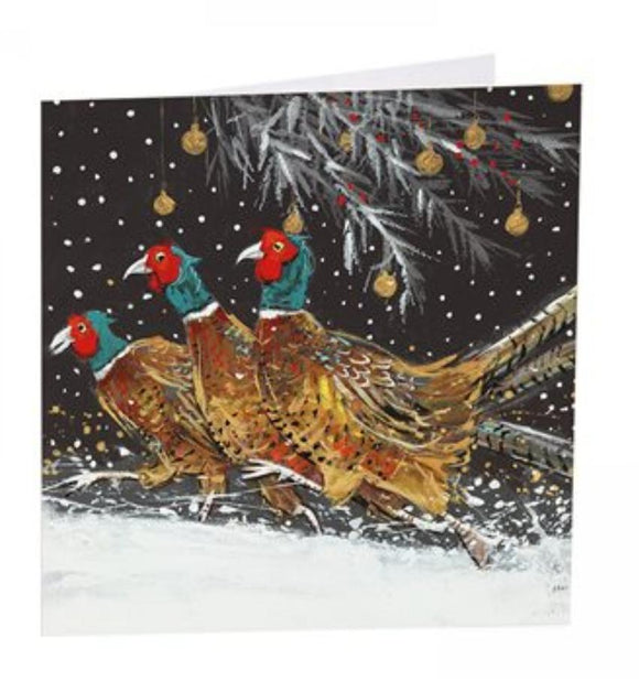 Art Beat pack of 6 Charity Christmas Cards Pheasants