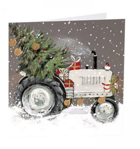 Art Beat pack of 6 Charity Christmas Cards Tractor