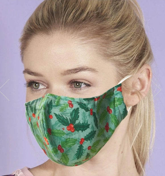 Reusable Face Mask Holly by Eco Chic
