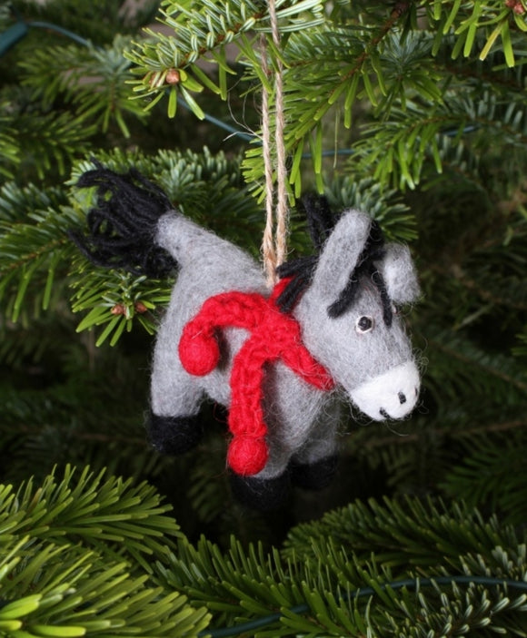 Dennis the Donkey Felt Decoration