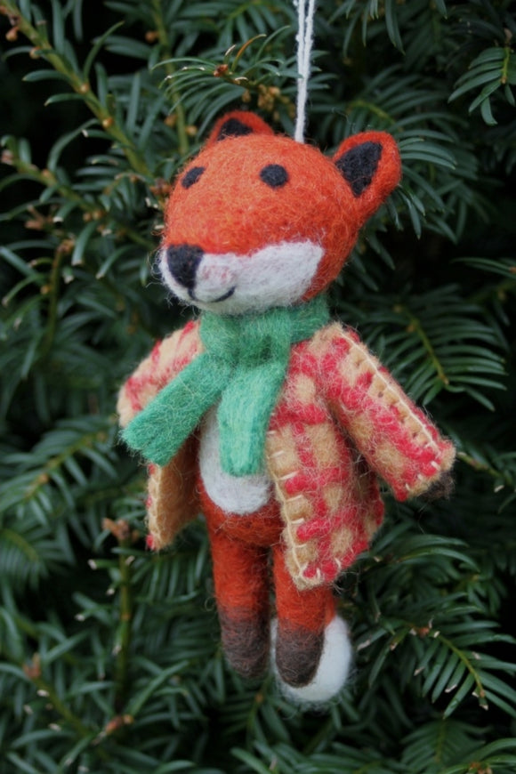 Mr Fox Felt Decoration