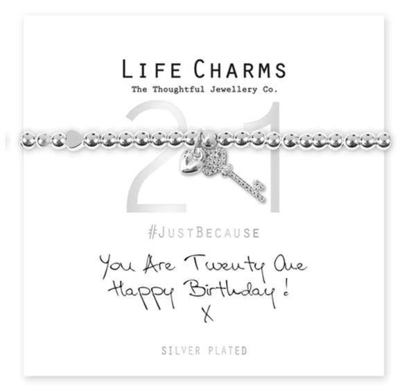Life Charms Bracelet -You are 21