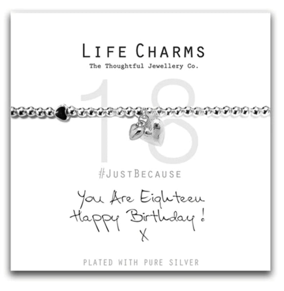Life Charms Bracelet -You are 18