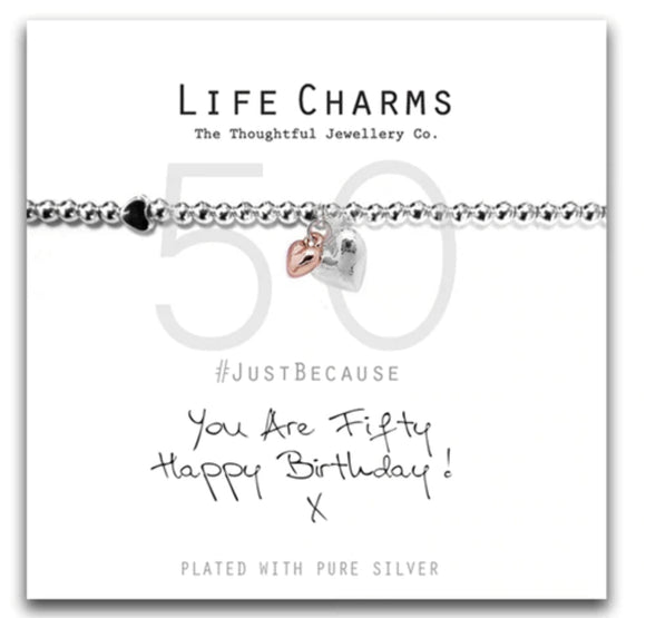 Life Charms  Bracelet-You are 50