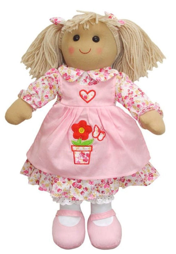 Flowerpot Dress Rag Doll