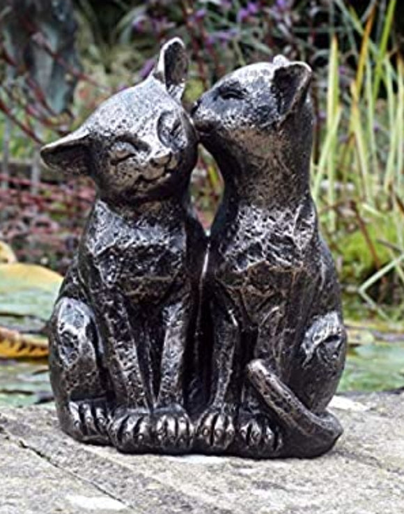 Pair Bronze Cats