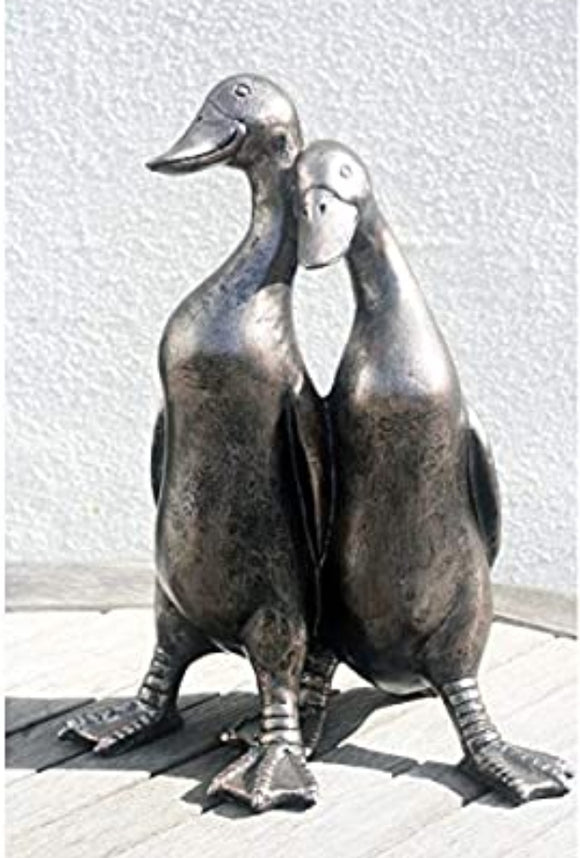 Pair Bronze Ducks