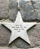 East of India Rustic Star sign -Love you