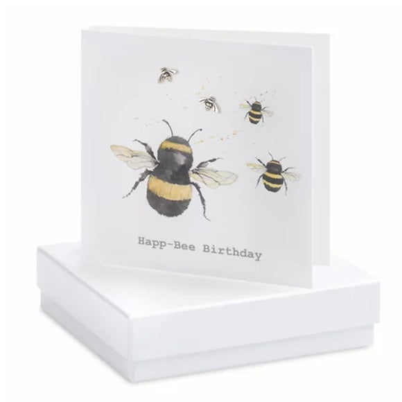 Boxed Earring Card Birthday Bee