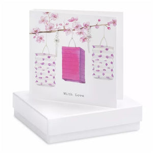 Boxed Earring Card Drop with love