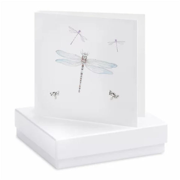 Boxed Earring Card Dragonfly