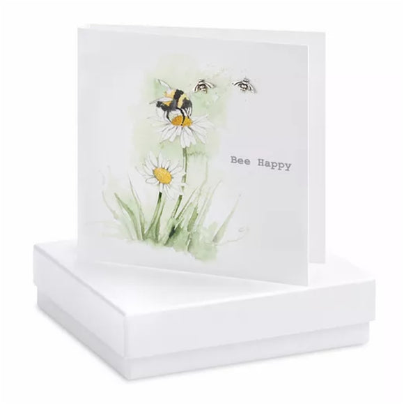 Boxed Earring Card Bee Happy