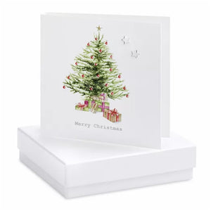 Boxed Earring Card Christmas Tree
